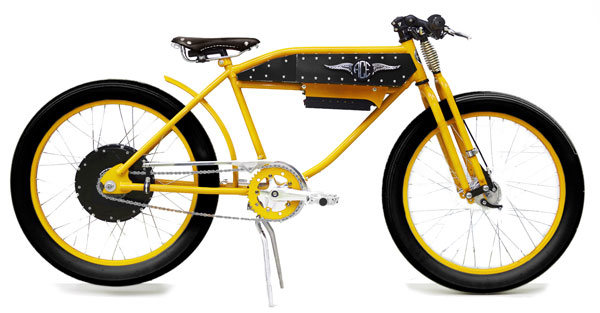 Ace Electric Motorbike in Yellow